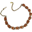 Lovely Vintage 1950's Maple Color Thermoset Necklace