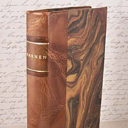 EDITH WHARTON Decorative Vintage Leather Book Titled Barnen