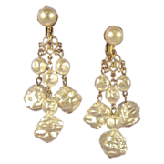 Lustrous Vintage Pearl Drop Chandelier Earrings