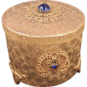 THORENS Jeweled Vintage Swiss Music Powder Trinket Box