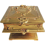 WB Weidlich Bros Art Nouveau Jewelry Casket Trinket Box Ormolu