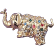 Adorable Elephant &quot;Good Luck&quot; Vintage Multicolor Rhinestone Brooch
