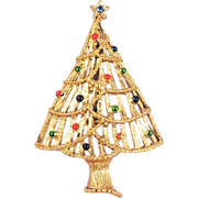 GERRY'S Vintage Christmas Tree  Brooch