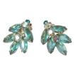 JULIANA Vintage Blue Zircon Crystal Earrings