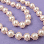 MARVELLA Vintage Pale Pink Pearl Bead Necklace