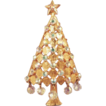 MYLU Vintage Crystal Christmas Tree Brooch