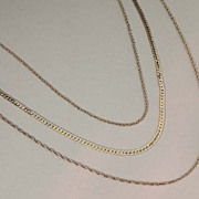 Beautiful MONET Vintage Signed Gold Multi Chain Necklace