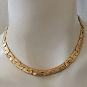 MONET Vintage Signed Golden Linked Chain Necklace