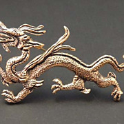 MUSEUM OF FINE ARTS Vintage Gold Dragon Brooch Signed MFA