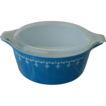 Pyrex Blue Garland 2 1/2 Qt. Cinderella Casserole