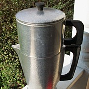 Club Hammered Aluminum Coffee Percolator