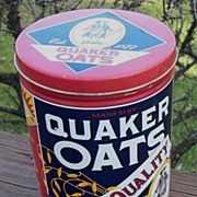 Quaker Oats Advertising Tin, Colorful, 1992