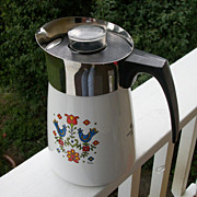 Corning Ware Stove Top Percolator, Coffee Pot,  Friendship, 1975