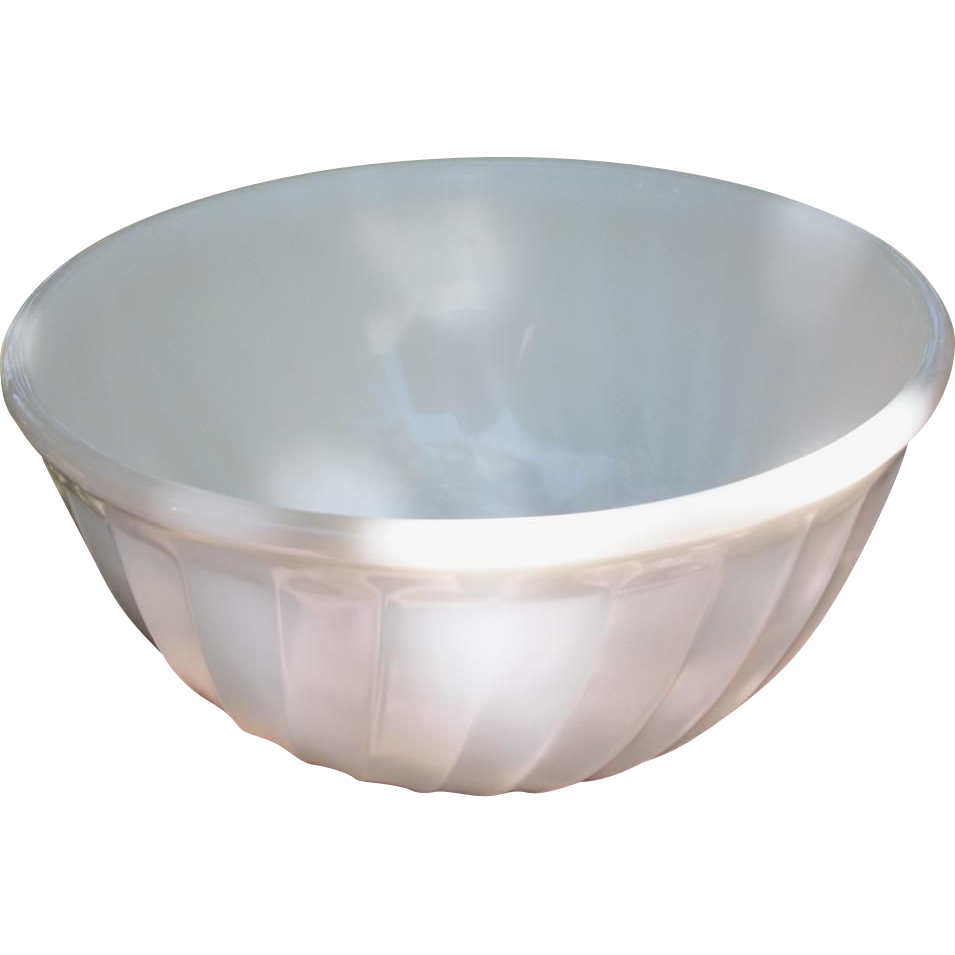 Fire King 2 Quart Swirl Serving Mixing Bowl