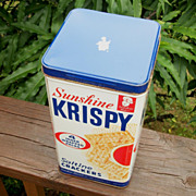 Vintage Krispy Sunshine Cracker Tin