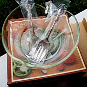 3 Piece Apple Salad Set, International Silver, New In Box