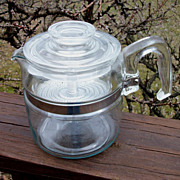 Vintage Pyrex Flameware 4 Cup Percolator