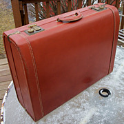 Vintage Leather Suitcase, Super Fortress