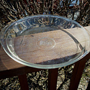 Vintage 10 Inch Glasbake Pie Plate With Handles