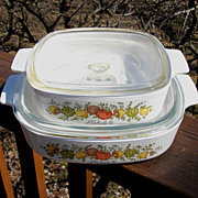 Set Of Corning Spice Of Life Lidded Casseroles