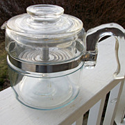 Pyrex Flameware 4 Cup Stove Top Percolator, Coffee Pot
