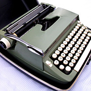 Smith Corona Super Sterling Typewriter, Green, 1966