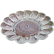 Sparkling Indiana Glass Egg/Relish Plate