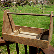 Vintage Hand Crafted Tool Carrier, Tool Box