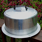 Regal Ware Aluminum Cake Carrier, Cake Plate