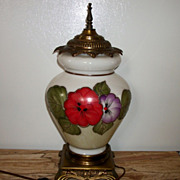 Hand Painted Floral Table Lamp, Gorgeous!