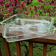 Two Very Large Pyrex Utility Dishes