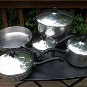 Vintage 9 Piece Farberware Cookware Set