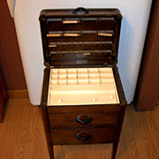 "Vintage ""Perfect Sewing Cabinet"" The Caswell Runyan Co. Sewing Cabinet"