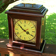 SOLD Vintage Jewelry Box Mantle Clock