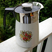 Corning Ware Stove Top Percolator, Coffee Maker, Spice Of Life