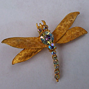 Dragonfly Brooch, Costume Jewelry