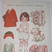 Vintage Dolly Dingle's Friend Leonora Paper Doll and Clothes - Uncut - 1927