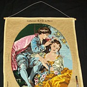"SOLD Beautiful Needlepoint S.E.G. de Paris France ""Les Charmes du printemps""  The Ch"