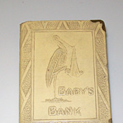 Vintage Zell N.Y. The First Step Baby Bank
