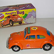 Battery Operated VW Bug Toy Action Car with Original Box