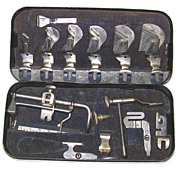 Vintage &quot;Standard&quot; Sewing Machine Attachment Tools - Original Case