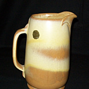 Frankoma Pottery Desert Gold Pitcher with Original Sticker