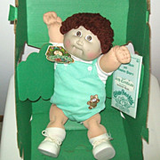 Artist Signed 1984 Coleco Cabbage Patch Kids Doll in Original Box with Original Papers
