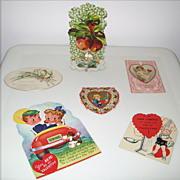 Six (6) Vintage Valentines - Raphael Tuck - Germany - Movable - 3D