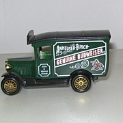 Vintage Die-Cast Metal Budweiser Beer Truck Collectible in Original Box - Made in England by .