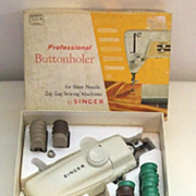 Vintage Singer Professional Buttonholer  for  Slant Needle - Zig Zag Machines - Complete with 