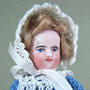"SALE 4"" All Bisque French Mignonette Doll with Blue Boots"