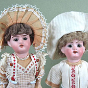"7"" Pair GOEBEL Dolls ~ Factory Original Boy & GIrl"