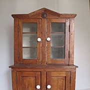 19th Century Miniature Stepback Cupboard for Antique doll