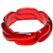 Bakelite Transparent Bright, Bright Red Prystal Super Thick Jello Bangle